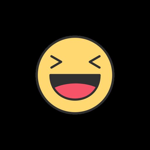 Facebook, Emoji, Reaction, Laughing Emoji Icon