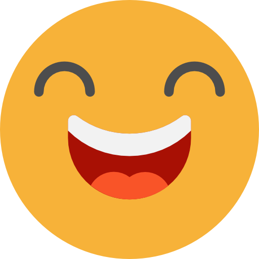 Emoticons, Emoji, Feelings, Smileys, Happy, Laughing Icon