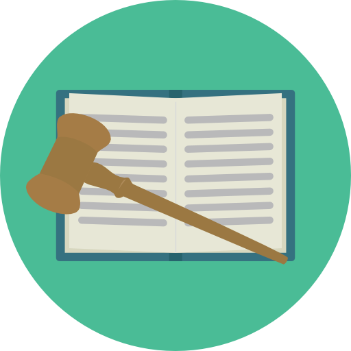 Education, Law, Gavel, Justice, Bible, Oath, Book Icon