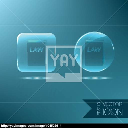 Icon Book Of The Law Set Of Laws Symbol Of Justice Vector