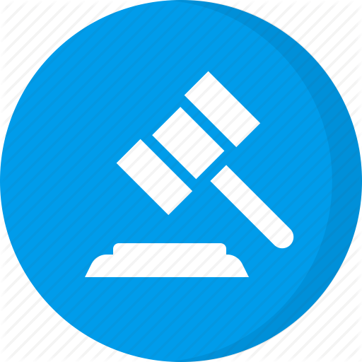 Court, Finance, Hammer, Insurance, Justice, Law, Legal Icon