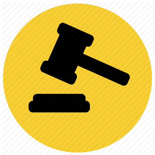Court, Finance, Hammer, Justice, Law Icon