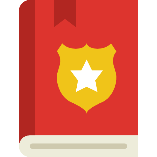 Law Book Icon Security Set Smashicons