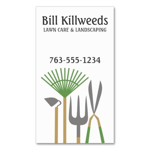 Yard Tools Rake Clippers Lawn Care Landscaping Business Card