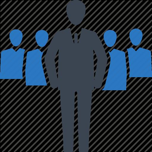 Businessman, Leader, Leadership, Team Icon