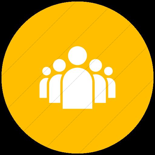Flat Circle White On Yellow Ocha Humanitarians Activity