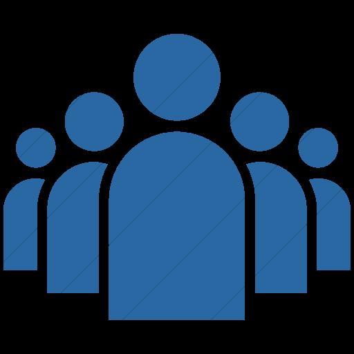 Simple Blue Ocha Humanitarians Activity Leadership Icon