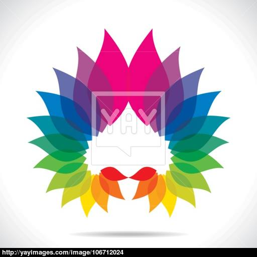 Creative Colorful Leaf Icon Vector