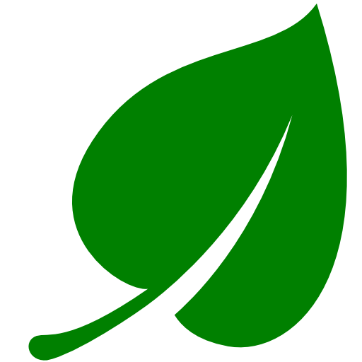 Cropped Green Leaf Icon