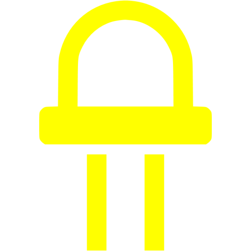 Yellow Led Diode Icon