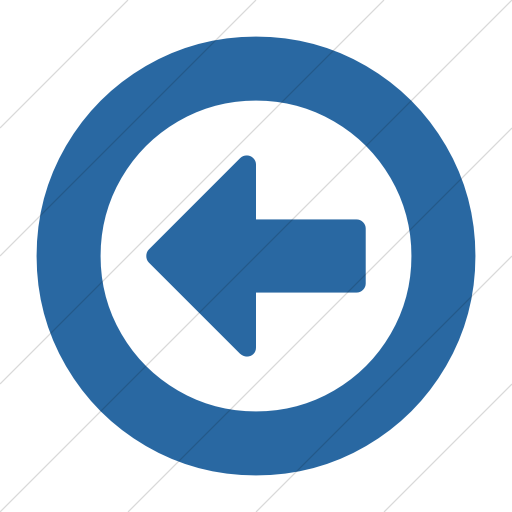 Simple Blue Bootstrap Font Awesome Arrow Circle O Left Icon