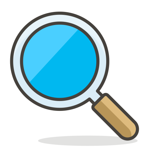 Magnifying, Glass, Tilted, Left Icon Free Of Free Vector Emoji