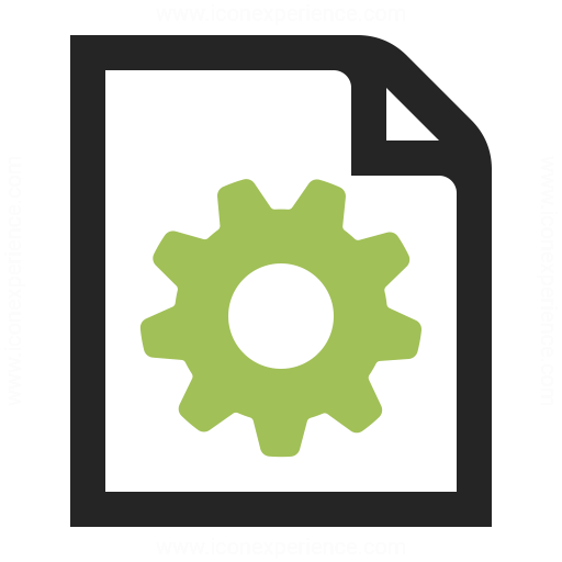 Document Gear Icon Iconexperience
