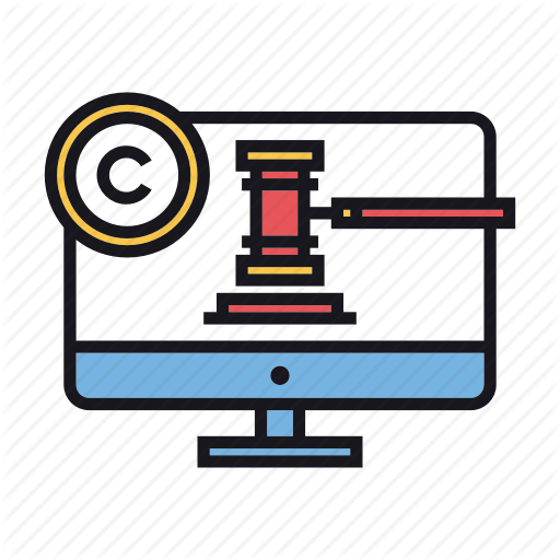 Copyright, Court, Digital, Law, Legal Icon