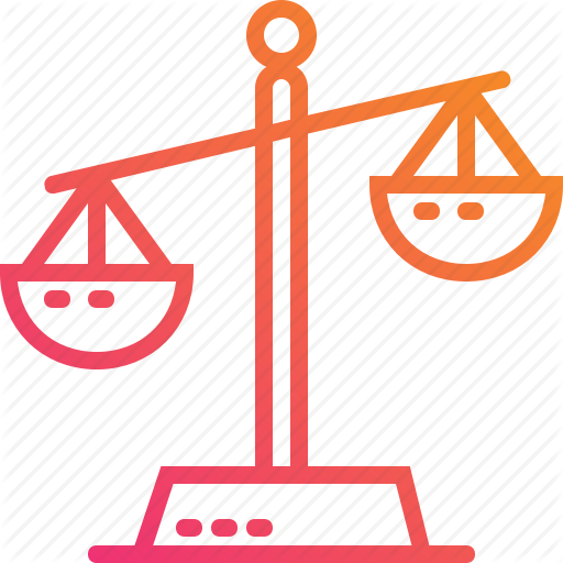 Balance, Gradient, Justice, Law, Legal, Scales, Weigh Icon