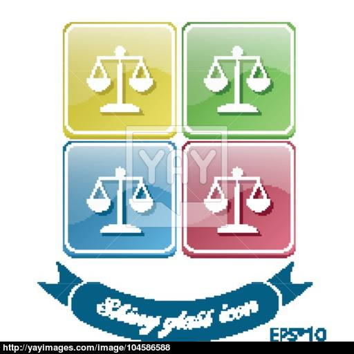 Icon Of The Scales Of Justice Symbol Of Justice Vector