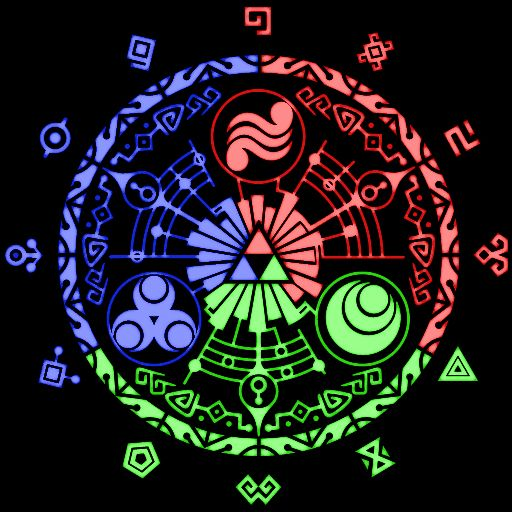 The Triforce Symbol On The Gate Of Time In Skyward Sword Legend