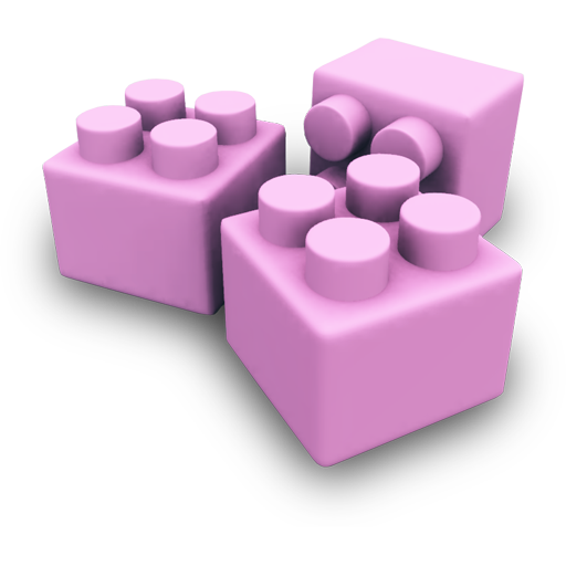 Pink Legos Icon