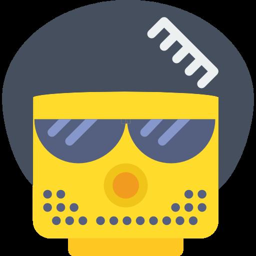 Afro, Face, Lego Icon
