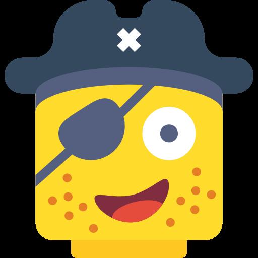 Face, Pirate, Lego Icon