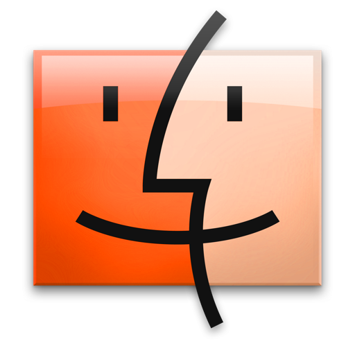Finder, Flame, Leopard Icon