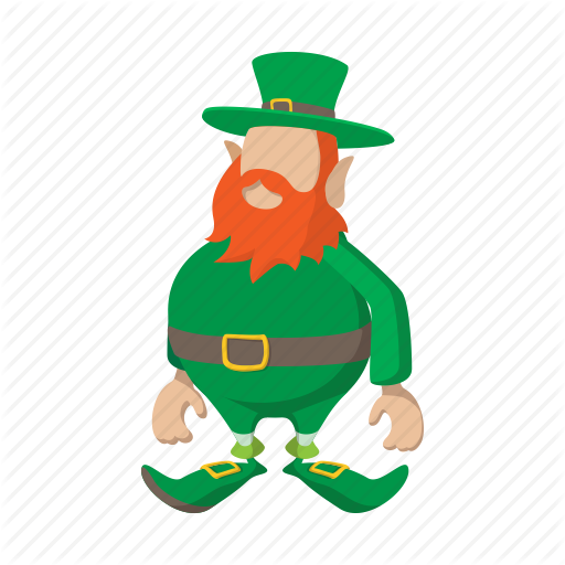 Cartoon, Clover, Green, Iconholiday, Irish, Leprechaun, Patrick Icon