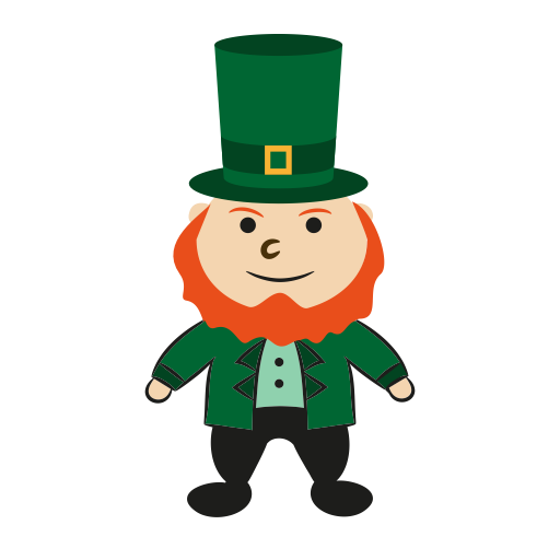 Gold, Happy, Leprechaun, Patrick, Irish, Irish Pot Icon