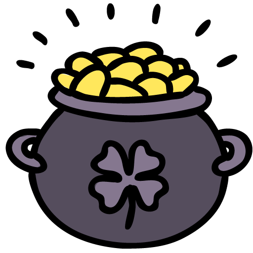 Pot, Of, Gold Icon Free Of Lucky Leprechaun