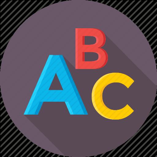 Abc, Alphabet, Beginning English, English, English Lesson Icon