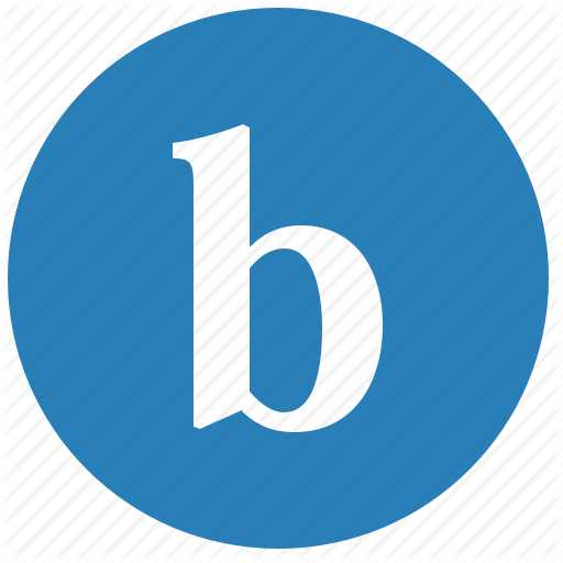 Alphabet, B, Keyboard, Latin, Letter, Round Icon