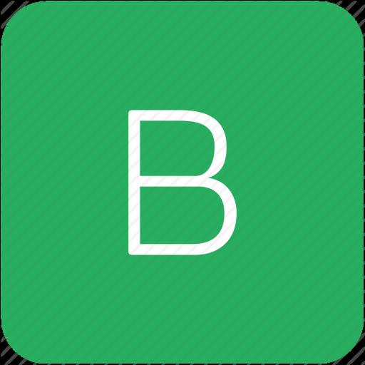B, Green, Key, Keyboard, Letter Icon