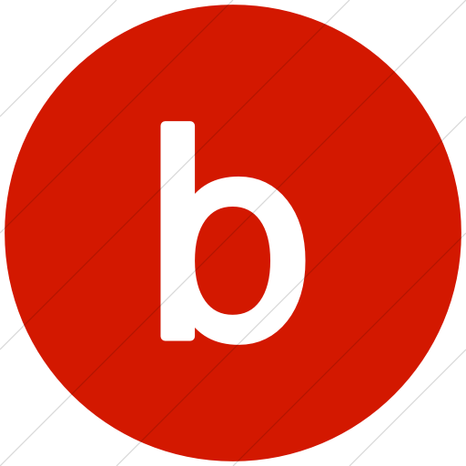 Flat Circle White On Red Alphanumerics Lowercase Letter