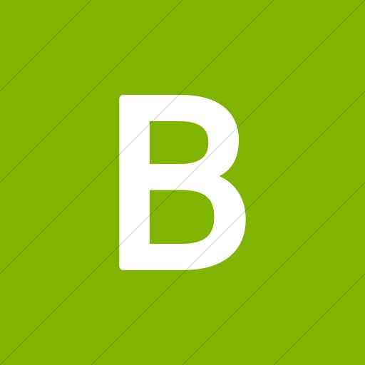 Flat Square White On Green Alphanumerics Uppercase