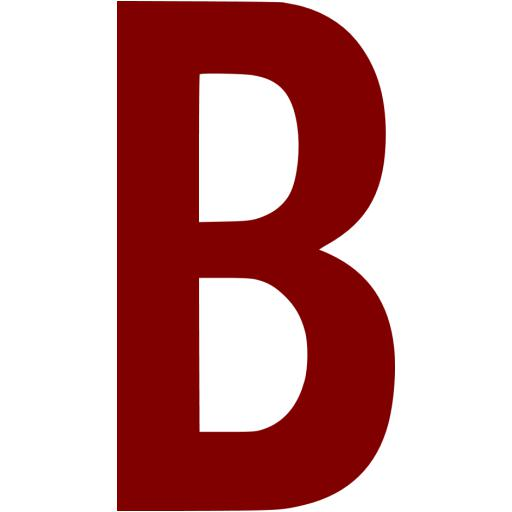 Maroon Letter B Icon