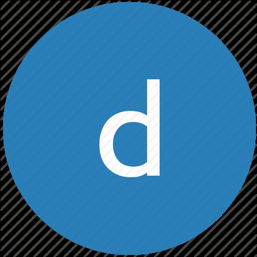 D, Keyboard, Latin, Letter, Lowcase, Round Icon