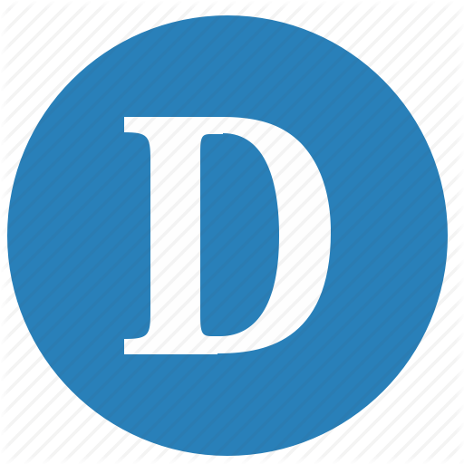 D, Keyboard, Latin, Letter, Round, Uppercase Icon