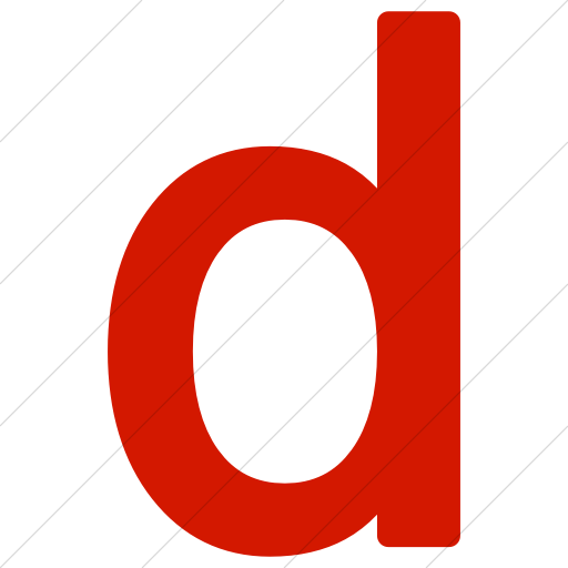 Simple Red Alphanumerics Lowercase Letter D Icon