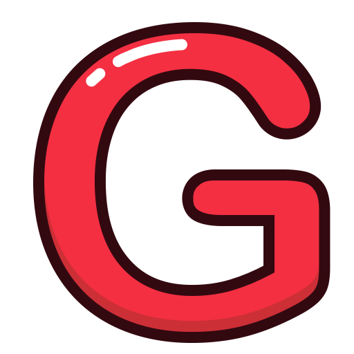 Alphabet, G, Letter, Letters, Red Icon