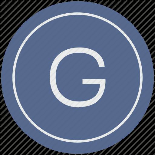 English, G, Latin, Letter, Uppercase Icon