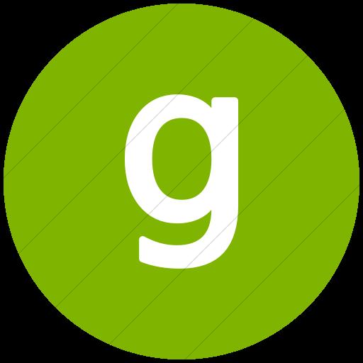 Flat Circle White On Green Alphanumerics Lowercase