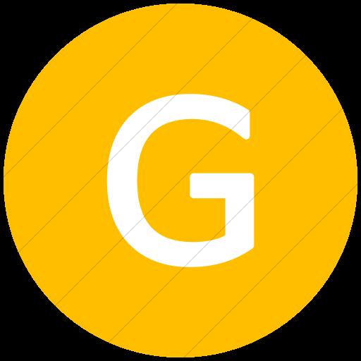 Flat Circle White On Yellow Alphanumerics Uppercase