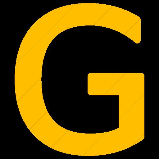 Simple Yellow Alphanumerics Uppercase Letter G Icon