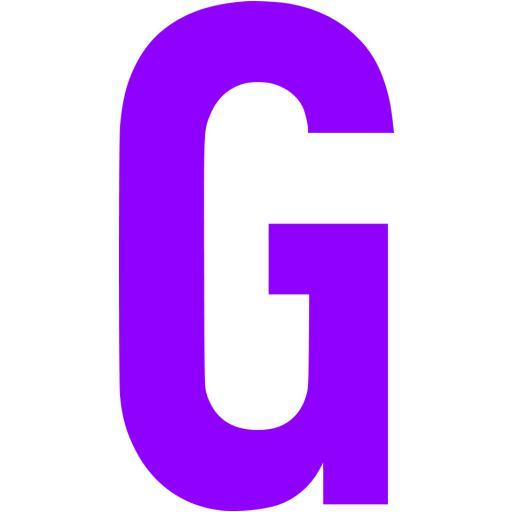 Violet Letter G Icon