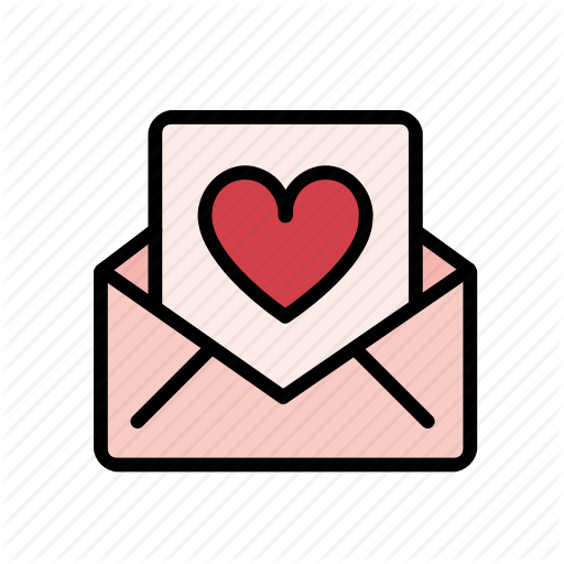 Email, Heart, Letter, Love, Message, Romance, Valentine Icon