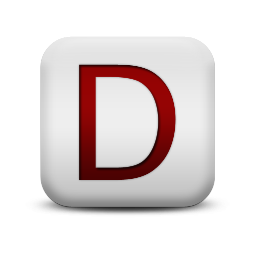 Letter D Icons