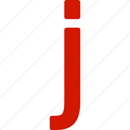 Simple Red Alphanumerics Lowercase Letter J Icon