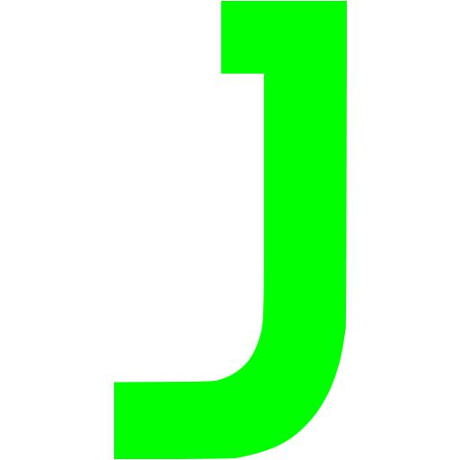 Lime Letter J Icon
