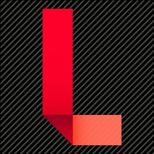 Alphabet, Folded, L, Letter, Origami, Paper, Ribbon Icon