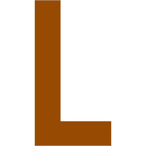Brown Letter L Icon
