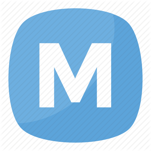 Alphabet M, Letter M, M Button, M Emoji, Squared M Icon